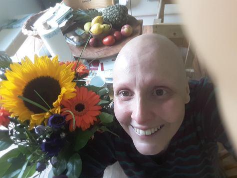Die erste EC - der Tiefpunkt meiner Chemo - aber die Blümchen haben mich aufgeheitert